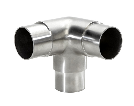 Flush side outlet elbow satin stainless steel for