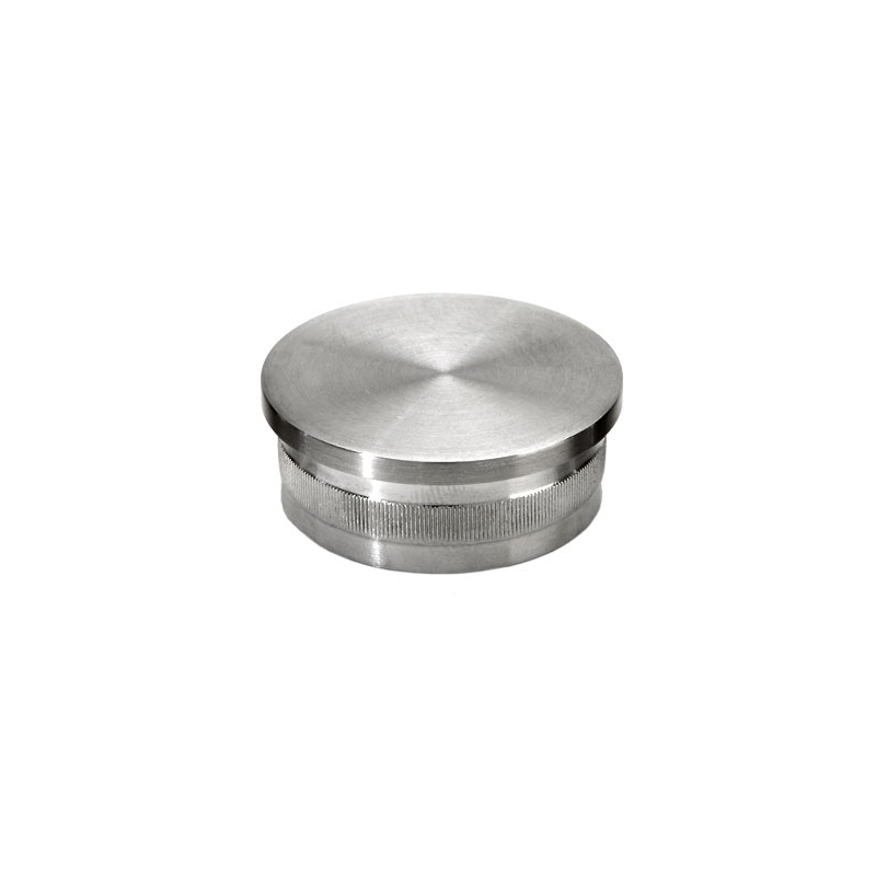 Flush end cap satin stainless steel for dia