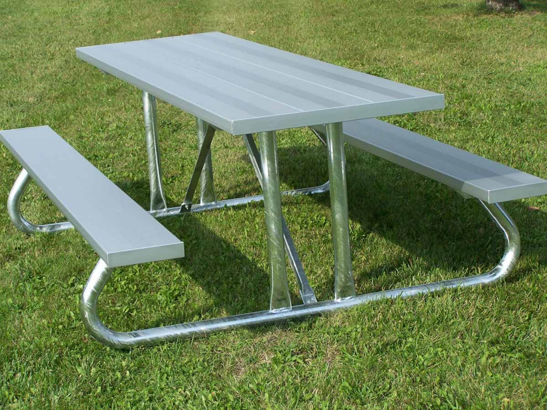 Aluminum Picnic Table Heavy GageSteel Legs PTHG - Park bench and table