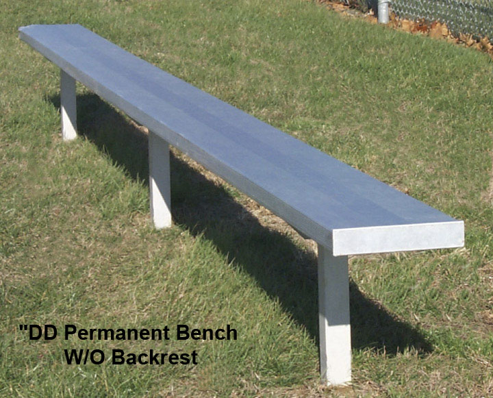 Pleasant Permanent Aluminum Bench W O Backrest In Ground Mount 12 24 Ft Be Dd Gmtry Best Dining Table And Chair Ideas Images Gmtryco