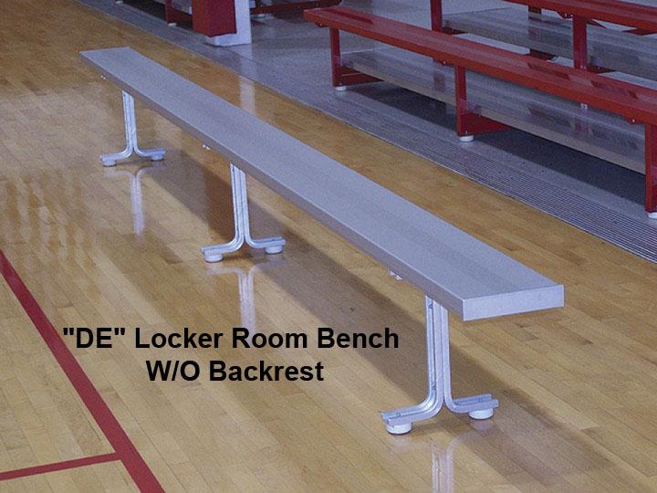 Portable Aluminum Locker Room Bench W O Backrest 6 8 Ft